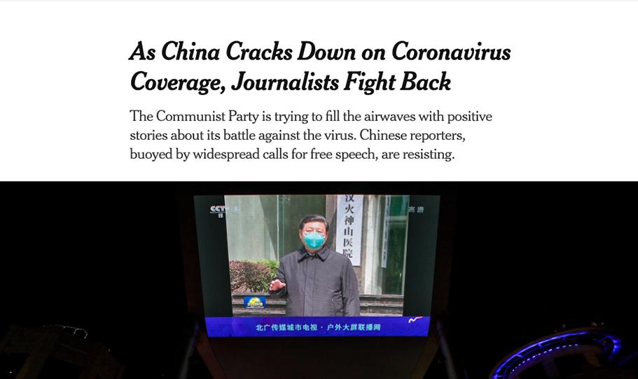 China Cracks down on Coronavirus Coverage, Journalists fight back